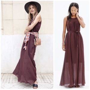 Madewell Chiffon Cotton/Silk Maxi Dress Sz Small